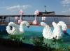 лебеди из шаров