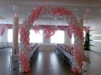 Свадебная композиция из воздушных шаров
