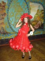 Платье из воздушных шаров