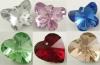Кулоны стеклянные имитация кристаллов Сваровски в ассортименте цветов