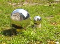 шар зеркальный из нержавеющей стали