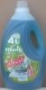 Жидкий стиральный порошок концентрат Power wash 4л. Зеленое яблоко.
