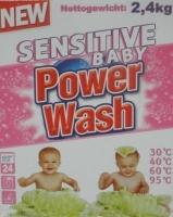 Стиральный порошок концентрат Power Wash baby   2.4кг