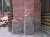 укладка плитняка кварцита песчаника