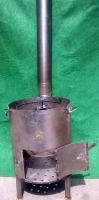 Печь для казана с трубой d 350мм