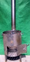 Печка для казана с трубой d 400мм