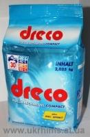 Немецкий Бесфосфатный стиральный порошок концентрат DRECO 2,025кг универсальный