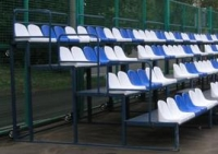 Сидения стадионные различная цветовая гамма.