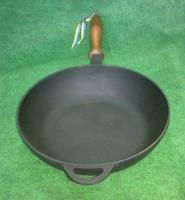 Чугунная сковорода сотейник 240х60 мм.
