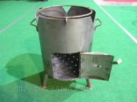 Печка для казана диаметр 380 мм,толщина стенки 2 мм. medium